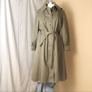 Vintage Trench | Removable Tweed Lining